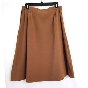 Coldwater Creek Size 10 Camel Colored A-Line Skirt
